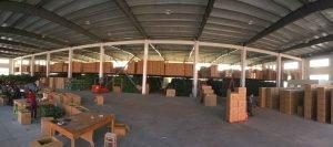 fábrica de plantas artificiales china