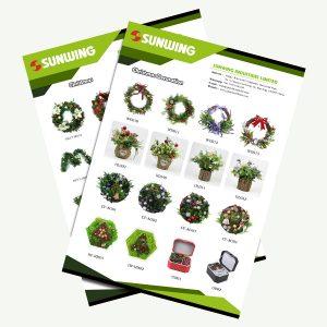 Catálogo de decoración navideña al por mayor