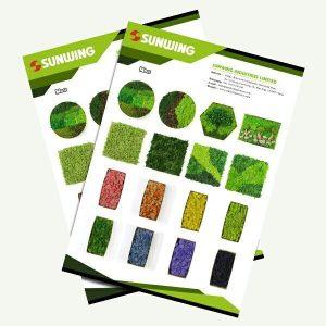 Catálogos de arte de musgo artificialpreservado