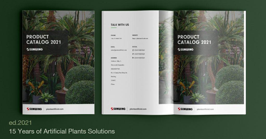 Catálogos de plantas artificiales de Sunwing al por mayor