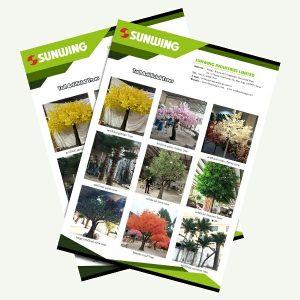 fabricante de grandes árboles artificiales